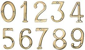 """Cifre din Alama pt Usa de Apartament """"1""""  - 1 buc"""