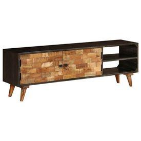 Comodă TV, lemn masiv de mango, 140 x 30 x 45 cm