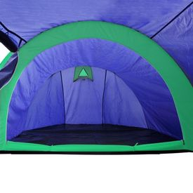 Cort camping 4 persoane, Bleumarin/Verde