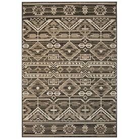 Covor aspect sisal de interior/exterior, 180x280 cm, geometric