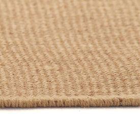 Covor de iută cu spate din latex, 160 x 230 cm, natural