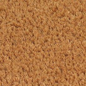 Covor de ușă, fibră de nucă cocos, 17 mm, 100 x 100 cm, natural