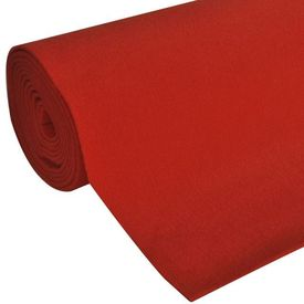 Covor Roșu 1 x 20 m Foarte Greu 400g/m²