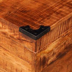 Cufăr de depozitare tip cub, lemn de mango nefinisat