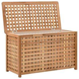 Cufăr de rufe, 77,5x37,5x46,5 cm, lemn masiv de nuc