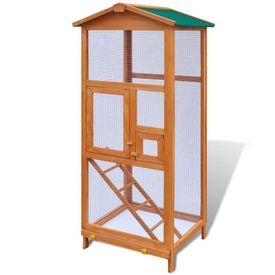 Cușcă de păsări din lemn, 65 x 63 x 165 cm