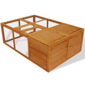 Cușcă pliabilă din lemn pentru animale