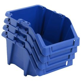 Cutii de depozitare, 250 buc, 103 x 165 x 76 mm, albastru