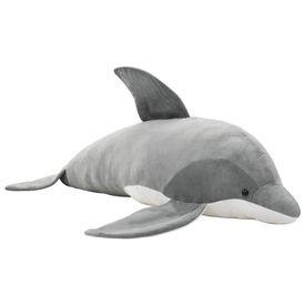 Delfin de jucărie, gri, pluș