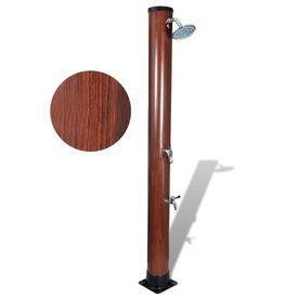 Duș solar pentru piscină cu finisaj din imitație de lemn
