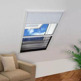 Ecran insecte pentru ferestre, cu umbrar, aluminiu, 60x80 cm