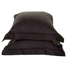 Emotion Fețe de pernă fără călcare 2 buc 60 x 70 cm, negru, 0222.04.71