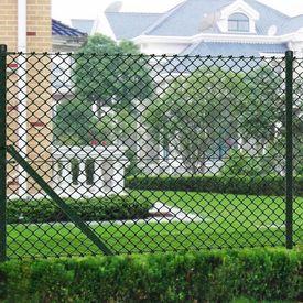 Gard de sârmă 1 x 25 m Verde cu Stâlpi şi Accesoriile de montare