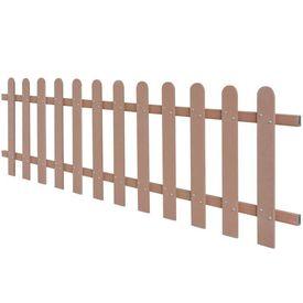 Gard din șipci, lemn compozit, 200 x 60 cm, maro