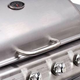 Grătar gaz BBQ cu 4+1 arzătoare, argintiu