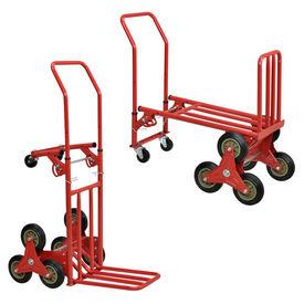 [in.tec]® Carucior multifunctional transport marfa/bagaje manevrabil pe scari, otel, rosu