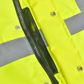 Jachetă reflectorizantă pentru bărbați, poliester, M, galben