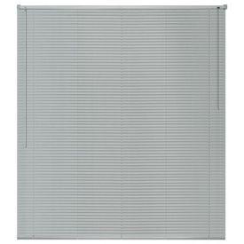 Jaluzele pentru ferestre, aluminiu, 60 x 130 cm, argintiu