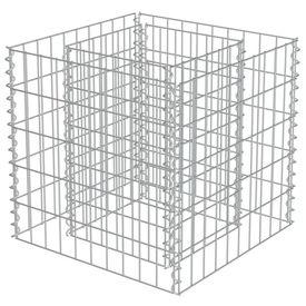 Jardinieră gabion, oțel galvanizat, 50 x 50 x 50 cm