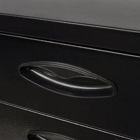 Ladă de scule metalică cu 3 sertare, negru