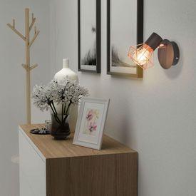 Lămpi de perete, 2 buc, cu 2 becuri LED cu filament 8 W