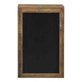 Masa birou Flavia,156 x 50 x 91,5 cm, MDF, culoarea lemnului, rabatabila, cu tabla integrata pentru scris si compartimente depozitare, economie spatiu