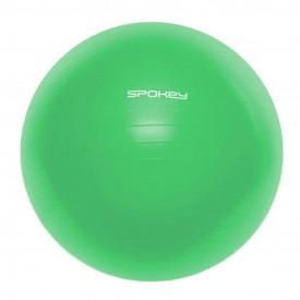 Minge fitness Spokey Fitball III, 65 cm, verde, cu pompa inclusa