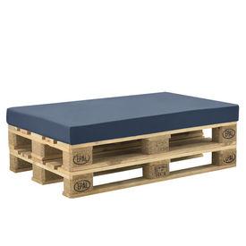 [neu.haus]® Husa pentru perna interior/exterior, 120 x 80 x 10 cm, 67% PVC / 33% Polietilena, albastru inchis