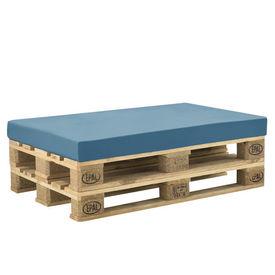 [neu.haus] Perna decorativa/burete cu husa pentru mobilier paleti HTSK-2204, 120 x 80 x 10 cm, 67% PVC / 33% Polietilena, turcoaz