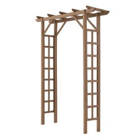 [neu.holz]® Pergola gradina AAWP-9902 WPC, 150 x 50 x 200 cm, lemn/plastic, maro