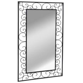 Oglindă de perete dreptunghiulară, 60x110 cm, negru