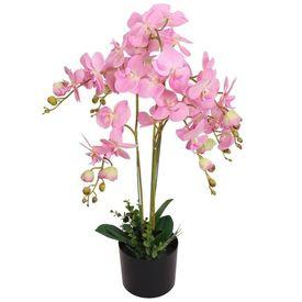 Orhidee artificială cu ghiveci, 75 cm, roz