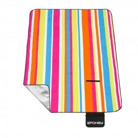 Patura camping / picnic 180 x 210 cm impermeabila, captusita cu aluminiu Spokey Picnic Rainbow