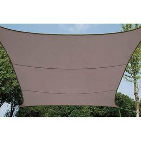 Perel Pânză parasolar, gri taupe, 3,6 m, pătrat, GSS4360TA