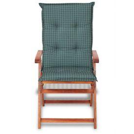 Perne pentru scaun de grădină, 117 x 49 cm, albastru, 6 buc.