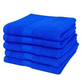 Prosop baie bumbac 100%, 500 gsm, albastru închis 100x150 5 buc