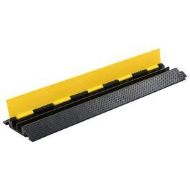 Rampă de protecție cabluri, 2 canale, cauciuc 101,5 cm
