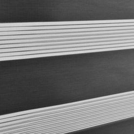 Roleta dubla (zebra) - protectie lumina - jaluzea - fara gaurire (80x175cm) gri