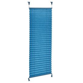 Roleta / perdea plisata - 70x125 cm - albastru turcoaz- protectie impotriva luminii si a soarelui - jaluzea - fara gaurire