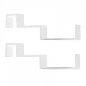 Set de 2 rafturi albe GL FRI