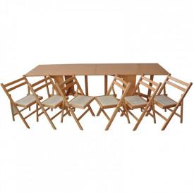 Set masa plianta de 12 persoane
