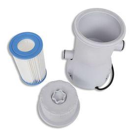Set pompă cu filtru pentru piscină 3785 L/h și 7 filtre