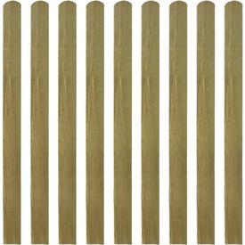 Șipci de gard din lemn tratat, 30 buc., 120 cm, lemn FSC