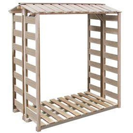 Șopron lemne de foc din lemn de pin tratat, 150 x 100 x 176 cm