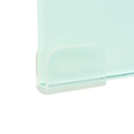 Stativ TV/monitor din sticlă albă, 90 x 30 x 13 cm