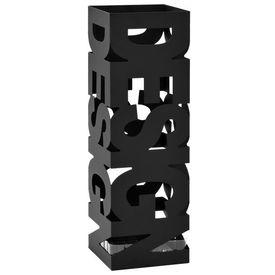 Suport de umbrele, model Design, oțel, negru