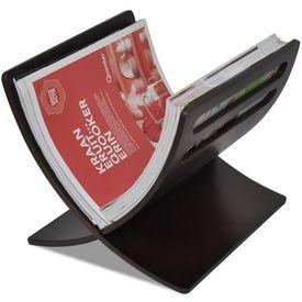 Suport din lemn pentru reviste, vertical, maro