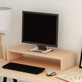 Suport monitor din placaj,  60 x 23,5 x 12 cm, bej