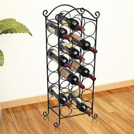 Suport sticle de vin pentru 21 de sticle, metal