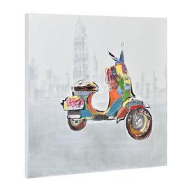 Tablou pictat manual - scuter model 6 - panza in, cu rama ascunsa - 60x60x3,8cm